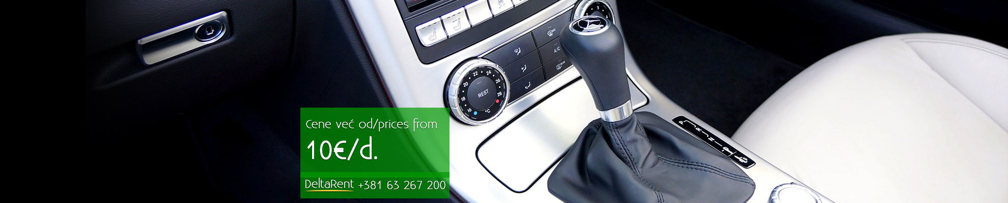 Rent a car, cars with automatic transmission, car rental: DeltaRent Belgrade