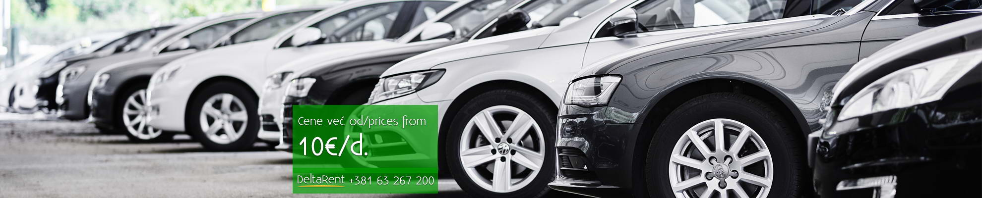 Rent a car Belgrade, prices from 10 euros, rental: DeltaRent